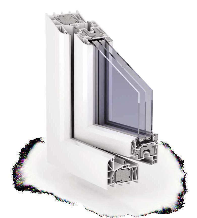 esquadria pvc isolada transparente